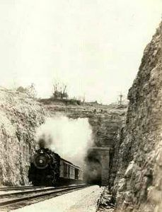 West end of the Missouri Pacific Railroad Tunnel in Gray Summit, Missouri.