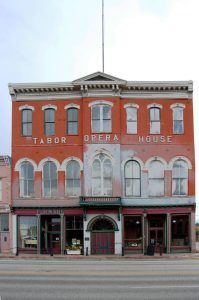 Tabor Opera House in Leadville, Colorado by Kathy Weiser-Alexander.