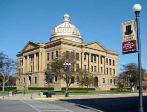 Logan County Courthouse in Lincoln, Illinoia courtesy Wikipedia.
