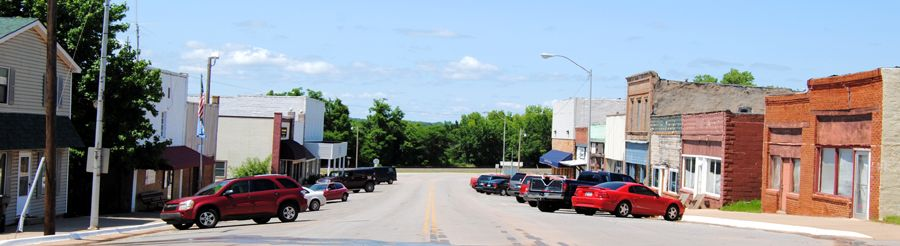 Main Street in Luther, Oklahoma by Kathy Weiser-Alexander.