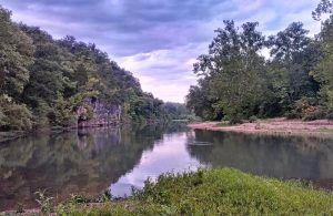 Meramec River near Leasburg, Missouri.