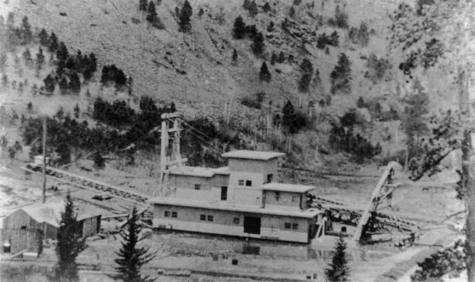 The First Black Hills Gold Dredge in Mystic, South Dakota.
