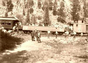 Train in Mystic, South Dakota.