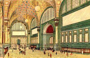 Penn Station in New York City, New York.