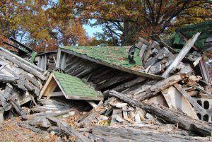 Ruins of John's Modern Cabins in Newburg, Missouri by Kathy Weiser-Alexander.