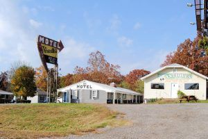Vernell's Motel on Route 66 in Newburg, Missouri by Kathy Weiser-Alexander.