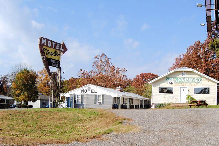 Vernell's Motel on Route 66 in Newburg, Missouri by Kathy Weiser-Alexander.