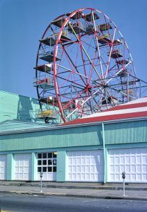 Palace Amusements Ferris Wheel in Asbury Park, New Jersey by John Margolies, 1978.