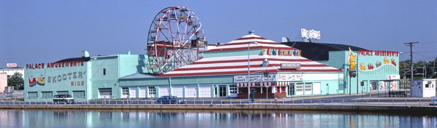 Palace Amusements in Ashbury Park, New Jersey by John Margolies, 1978.