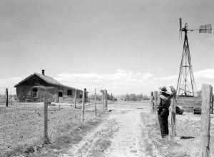 A homestead in Pennington County, South Dakota by Arthur Rothestein, 1933.