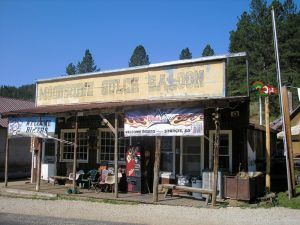 The Moonshine Saloon in Rochford, South Dakota still caters to locals and visitors today, by Kathy Weiser-Alexander.