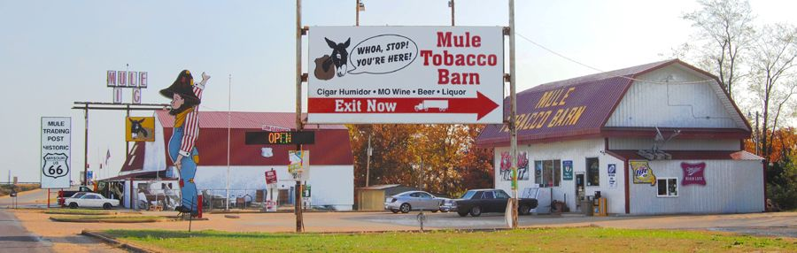 Mule Trading Post on Route 66 in Rolla, Missouri by Kathy Weiser-Alexander.