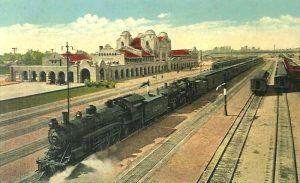 Santa Fe Railroad in San Bernardino, California.