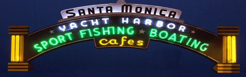Santa Monica Pier, California by Carol Highsmith.