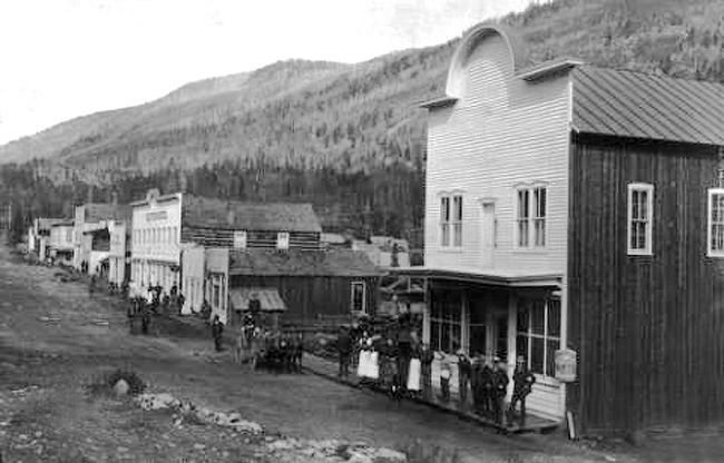 St. Elmo, Colorado Main Street, about 1885.