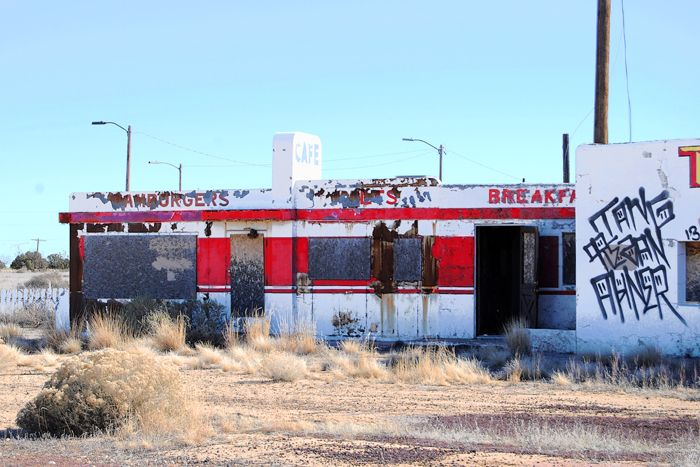 Twin Arrows Valentine Diner in Arizona by Kathy Weiser-Alexander.