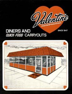 Valentine Diner Catalogue Cover.