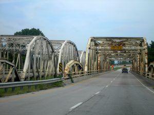 Verdigris Bridges near Catoosa, Oklahoma by Kathy Weiser-Alexander.
