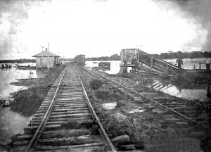 Railroad in Wellston, Oklahoma early 1900s.