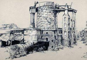 1800s Iron Ore Blast Furnace