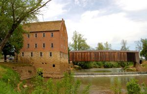 Bollinger Mill and the Covered Bridge in Burfordville, Missouri by Kathy Weiser-Alexander.