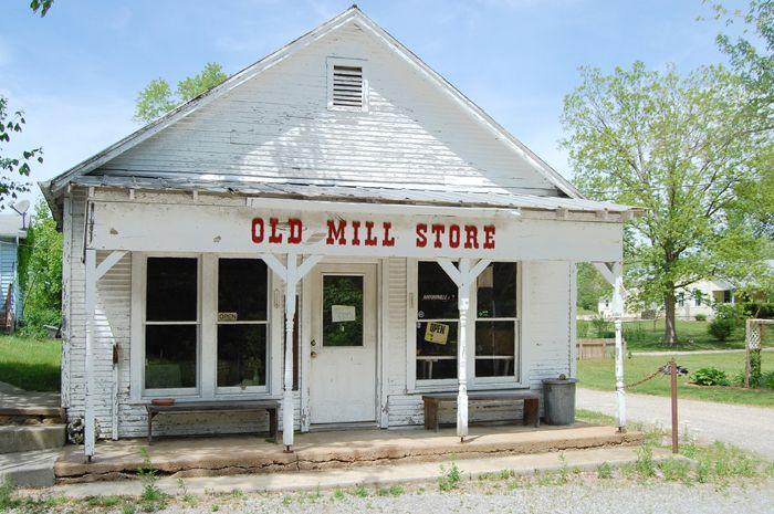 Old Mill Store in Burfordville, Missouri by Kathy Weiser-Alexander.