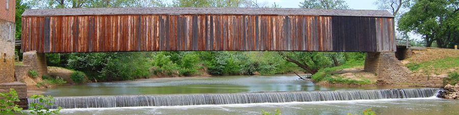 Burfordville, Missouri Covered Bridge by Kathy Weiser-Alexander.
