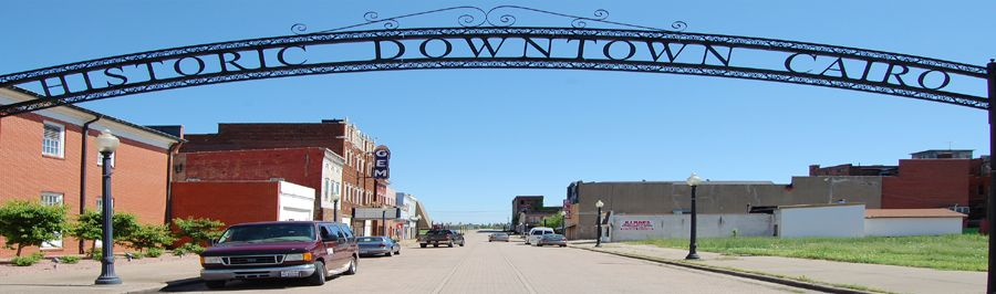 Welcome to Historic Downtown Cairo, Illinois by Kathy Weiser-Alexander.