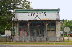The old C.A. Braswell Smith & Grocery Store in Cledonia, Missouri was built in 1909 at the northeast corner of Main and Henry Streets in Caledonia, Missouri by Kathy Weiser-Alexander.
