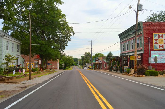 Main Street in Caledonia, Missouri today by Kathy Weiser-Alexander.