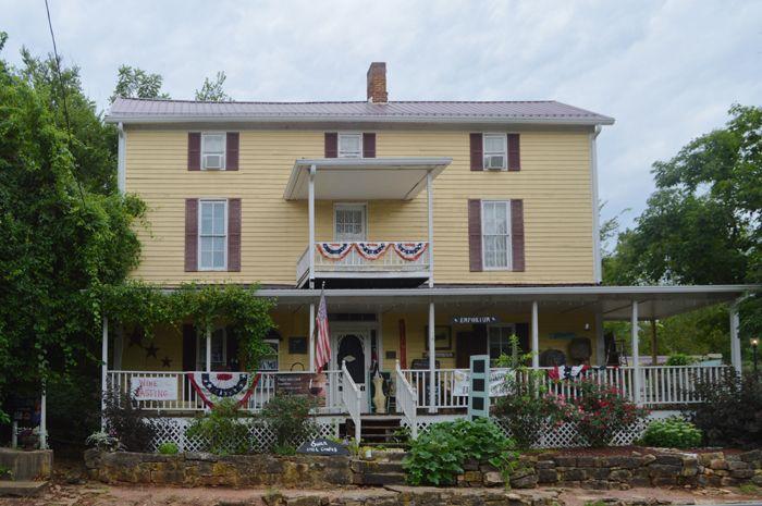 Wine Cottage Bed & Breakfast and theTwelve Mile Creek Emporium in Caledonia, Missouri by Kathy Weiser-Alexander.