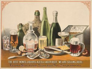 German wines, beer, ale, and liquor in 1871 by L.N. Rosethal