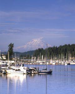 Boats in Gig Harbor, Washington by Carol Highsmith.