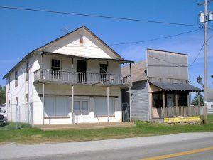Historic buildings still standing in Halltown, Missouri by Kathy Weiser-Alexander.