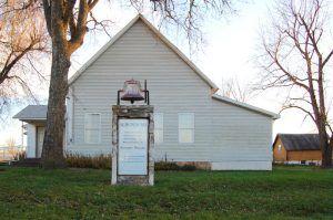 The Christian church in Halltown, Missouri is still active today, by Kathy Weiser-Alexander.