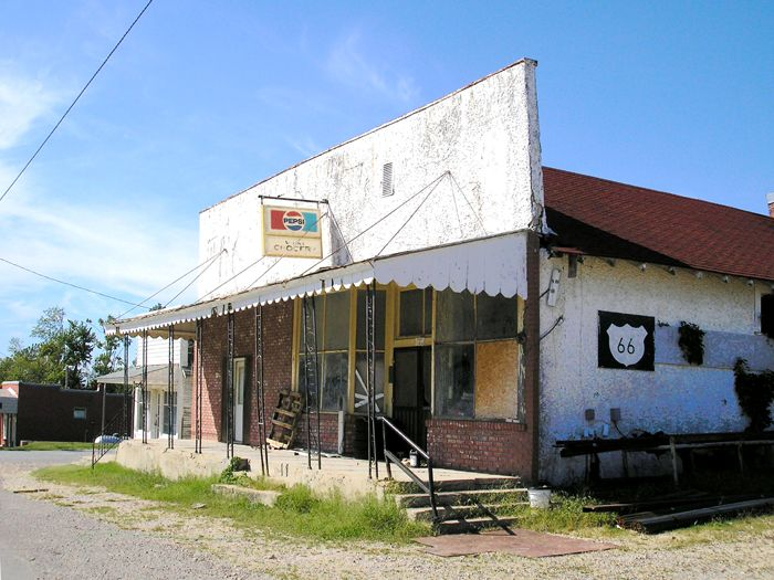 West's Grocery Store once stood on the north side of Main Street in Halltown, Missouri. However, it is gone today.