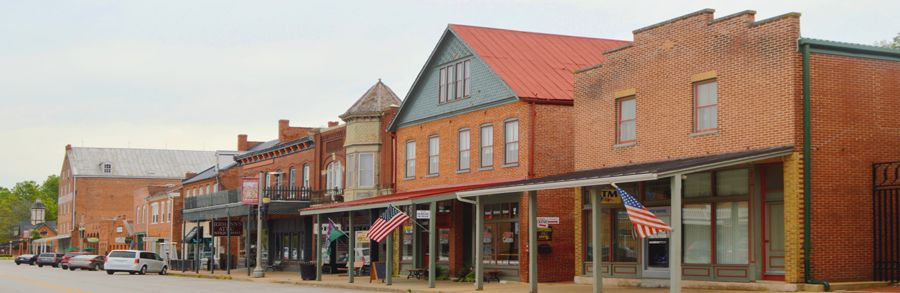 1st Street in Hermann, Missouri by Kathy Weiser-Alexander.