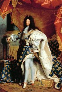 French King XIV by Hyacinthe Rigaud, 1701.