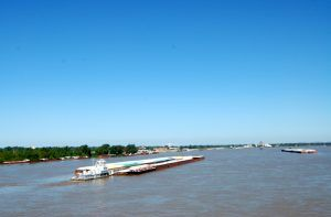 The Ohio River at Cairo, Illinois is still busy today by Kathy Weiser-Alexander.