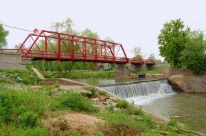Old Appleton, Missouri Bridge over Apple Creek by Kathy Weiser-Alexander.