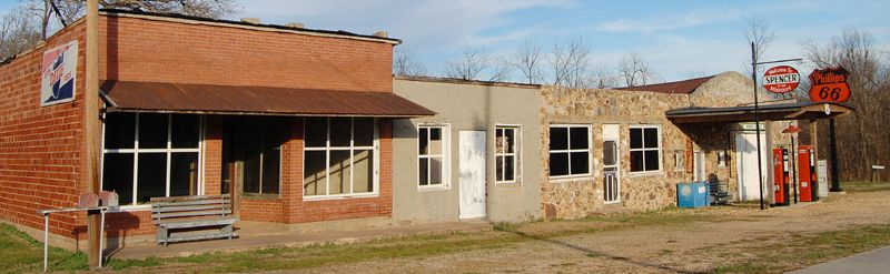Building Row in Spencer, Missouri by Kathy Weiser-Alexander.