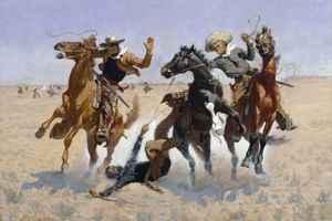 Aiding a Comrade by Frederic Remington, 1890.