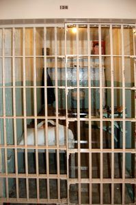 """Cell of one of the escapees at Alacatraz showing the """"dummy"""" head by Kathy Weiser-Alexander."""