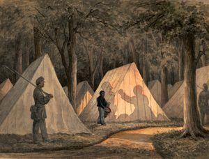 Civil War drummer in Union Camp during the Civil War.