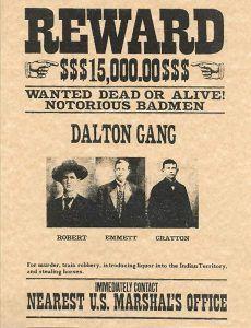 Dalton Gang Wanted Poster