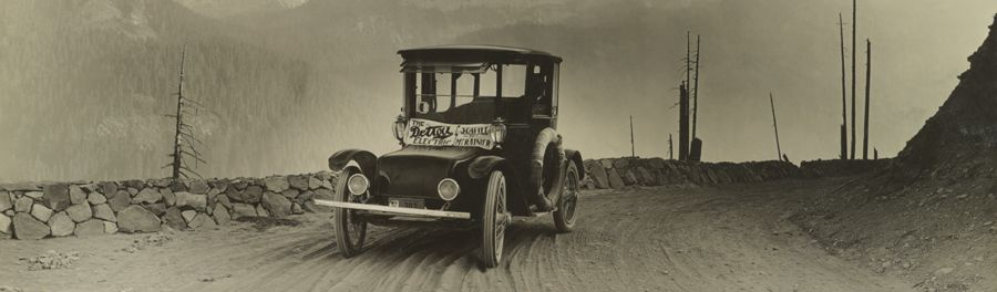 Detroit Electric Automobile in Washington state, 1919.