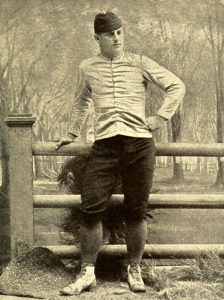 Frederic Remington in Football Uniform