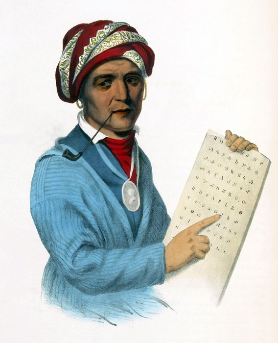 Sequoyah by Charles Bird King, 1828