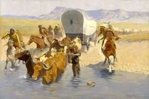 The Emigrants by Frederic Remington