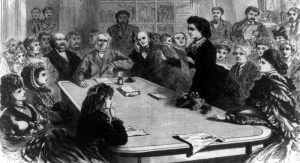 Victoria Woodhull running for president.